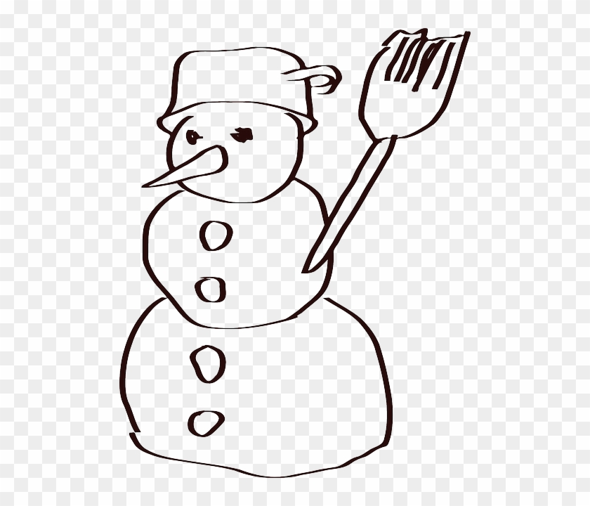 Holidays, Christmas, Winter, Sketch, Snow - Snowman Sketches #1325540