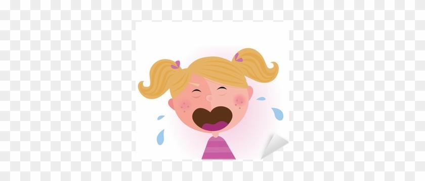 Crying Baby Girl - Girl Is Crying Cartoon #1325585