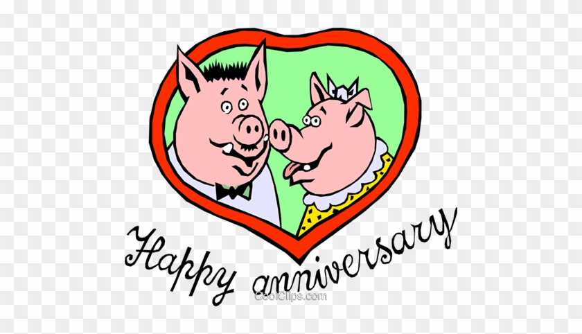 Happy Anniversary Pigs - Happy Anniversary Clip Art #1325707
