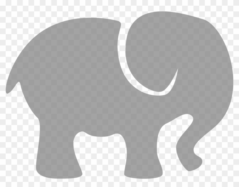 Collection Of Elephant Cliparts Silhouette - Baby Elephant Silhouette Clip Art #1325727