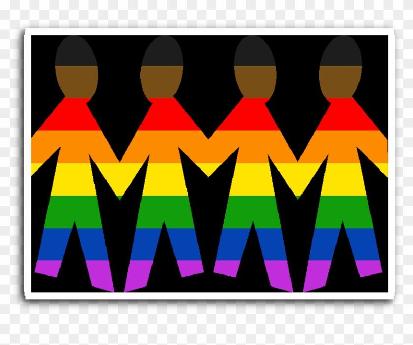 New Pride Unity Rainbow Family Black Background Vinyl