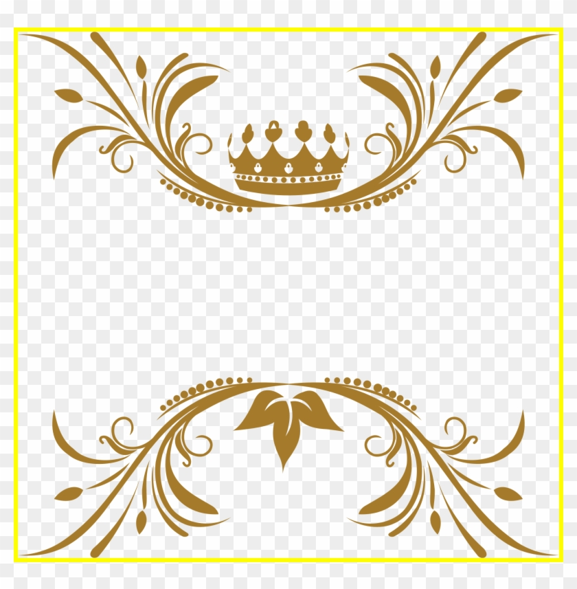 Stunning Crown Flourish No Background Icons Png And - Gold Royal Frame Png #1326035