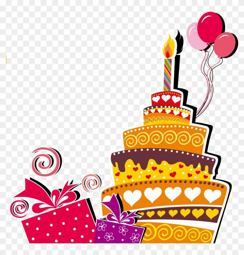 Birthday Cake Wedding Invitation Happy Birthday To - Happy Birthday Graphic Cards #1326257