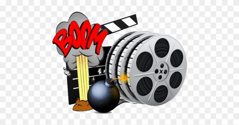 Hollywood Film Reel Clip Art - Movie Film Reels Cufflinks Hollywood Tin Projector #1326346
