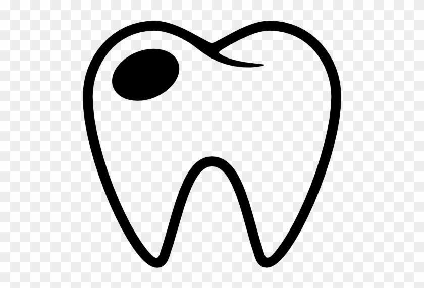 Molar With Cavity Free Icon Muela Con Carie Para Colorear Free