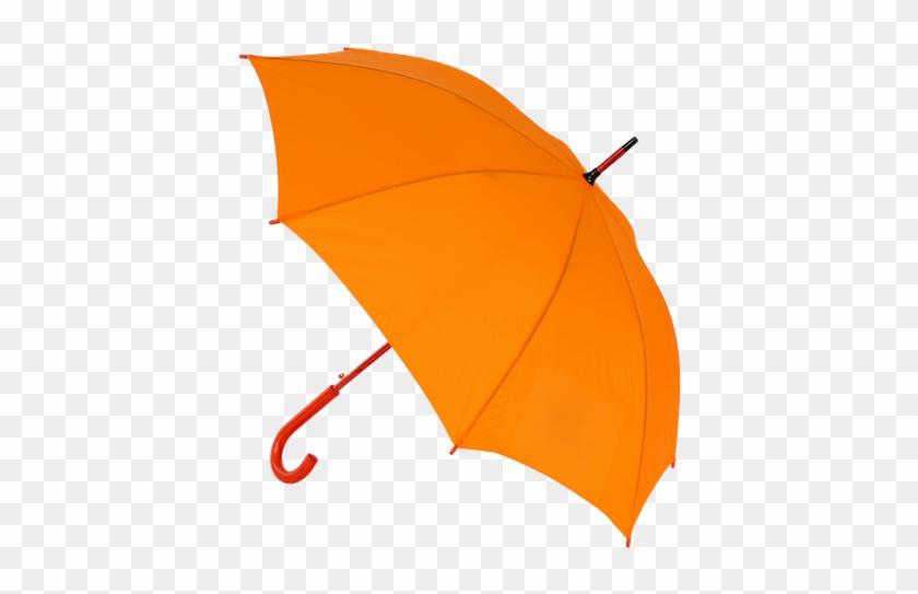 Look For Our Guide With The Orange Umbrella - Guarda Chuva Fundo Branco #1326723