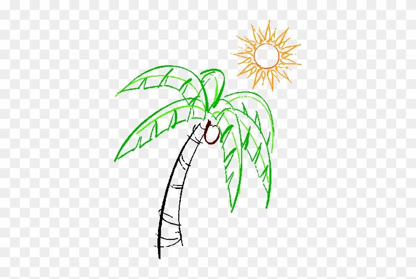 Palm Tree & Sun - Rio Palm Tree #1327254