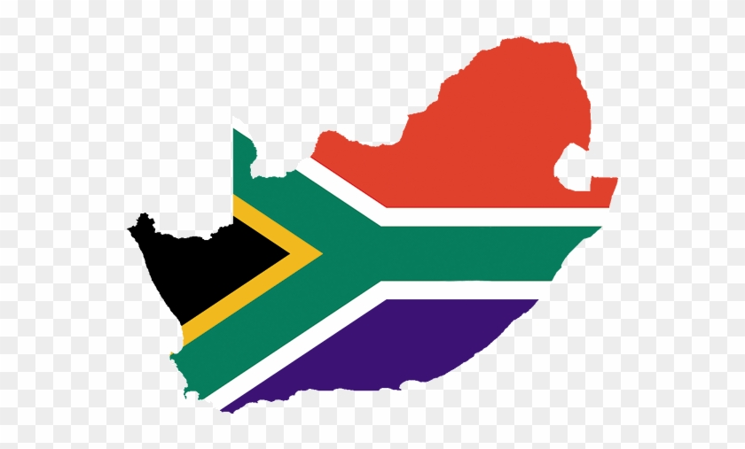Map And Flag Of South Africa - South Africa Flag Country #1327330