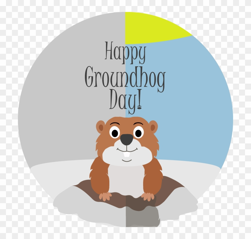 Groundhog Clipart Winter - Happy Groundhog Day 2018 #1327367