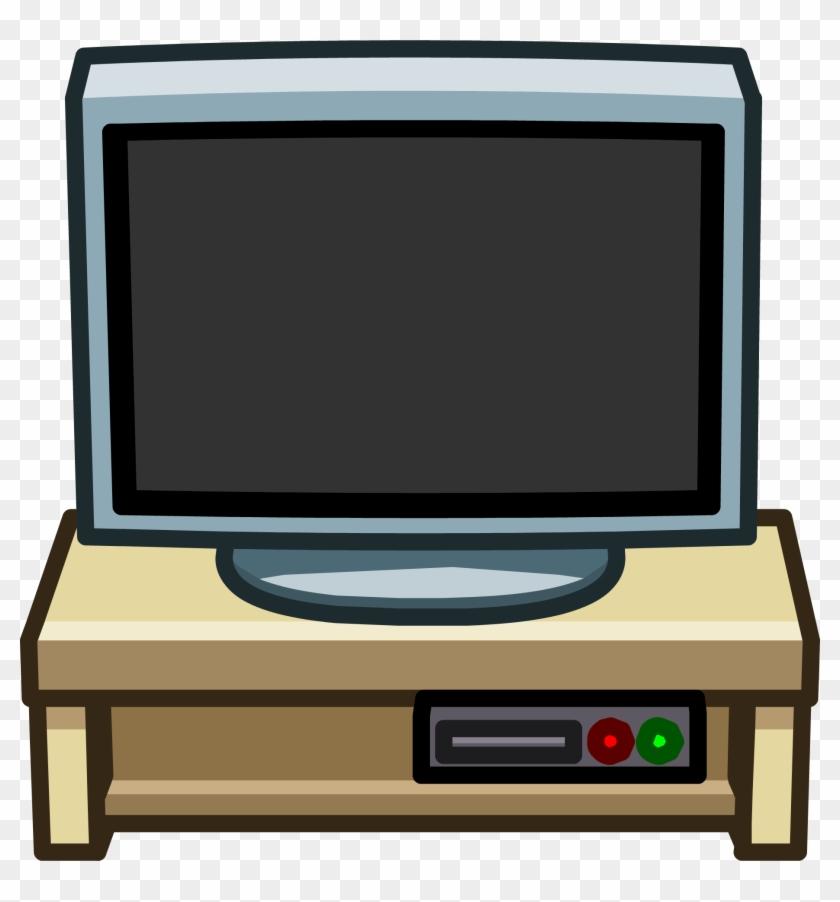 Furniture Icons 2348 - Big Screen Tv Club Penguin #1327405