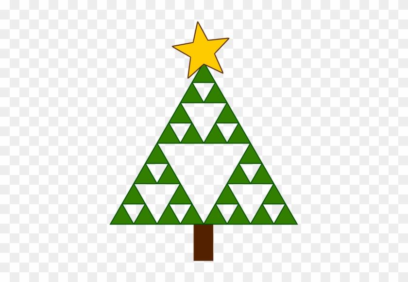 Geometric Christmas Tree - Sierpinski Triangle Christmas Tree #1328370