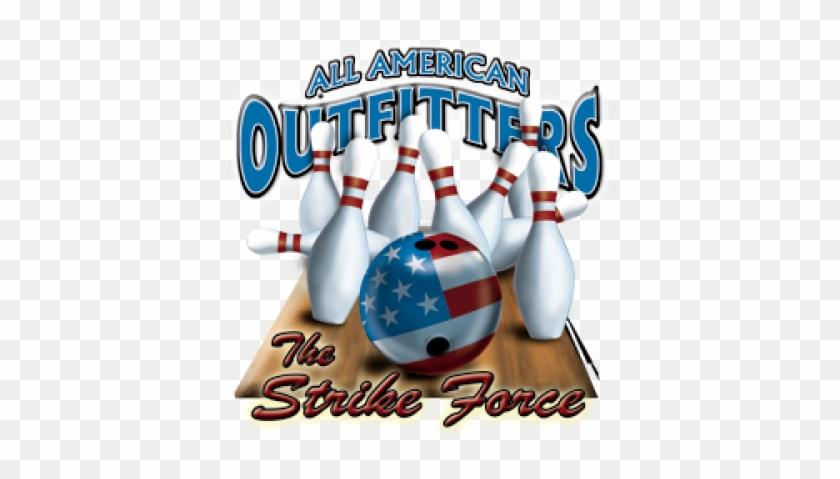 5268 - Strike Force Bowling Ball Pin Bowler T-shirt #1328940