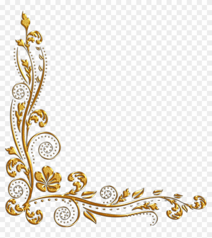 gold flower border png free transparent png clipart