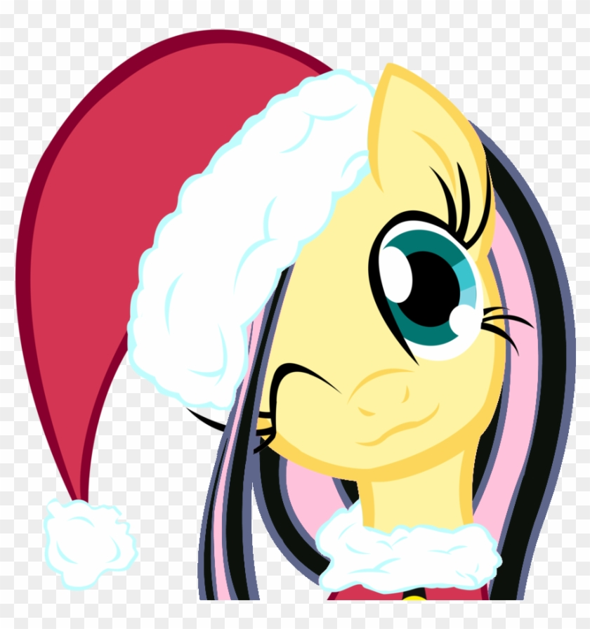Christmas, Christmas Ponies, Emoshy, Fluttershy, Hat, - Pony Friendship Is Magic Christmas #1329465