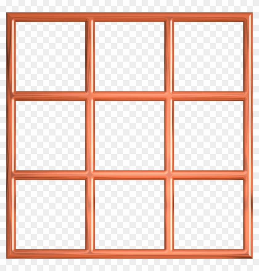 Orange Window Frame By Lashonda1980 Orange Window Frame - Square