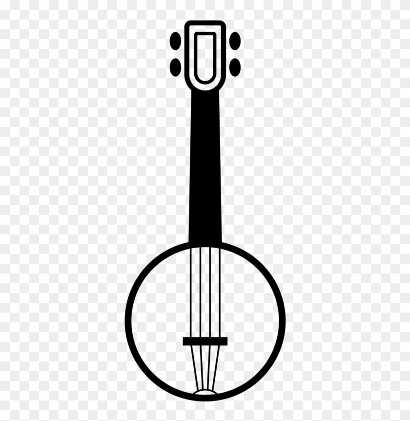 Free Violin Clipart Black And White Images Download - 5 String Banjo