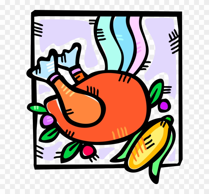 Vector Illustration Of American Thanksgiving Day Roast - Ear #1329847