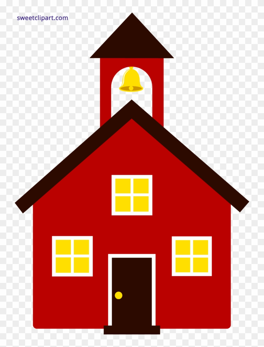 School House Red Clipart Schoolhouse - Red School House Clip Art #1329978