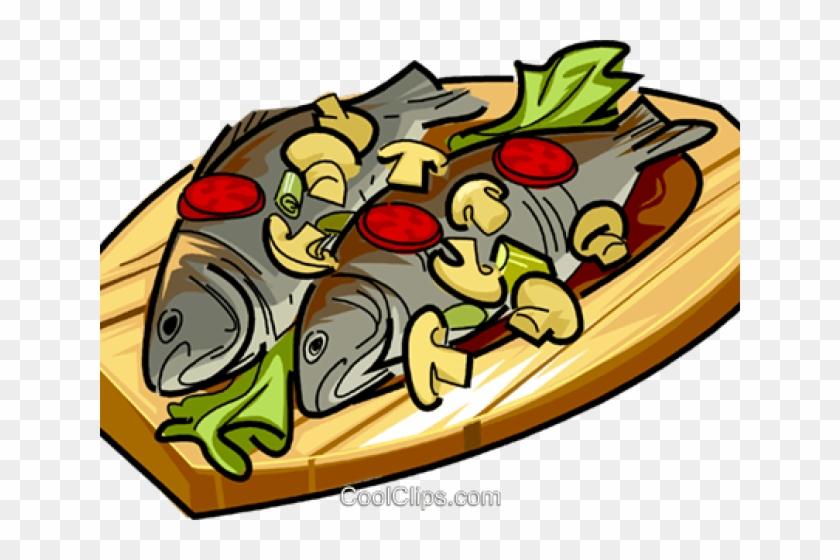 Vegetables Clipart Fish Poisson Repas Dessin Couleur Free