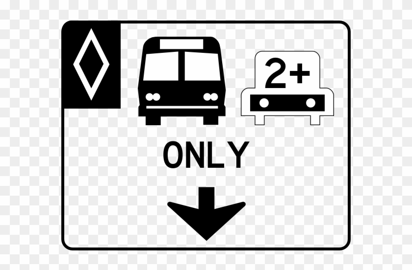 Hov2 Old S - No Parking Bus Stop Sign #1331589
