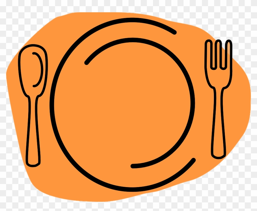 Summer Suppers - Plate Fork And Knife Clipart #1331612