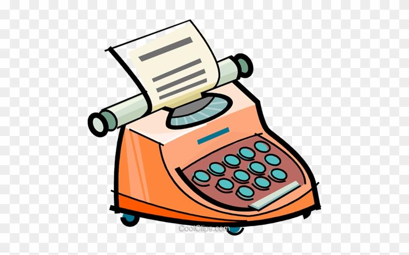 Simple Clipart Typewriter - Cartoon Images Of Typewriter #1331903
