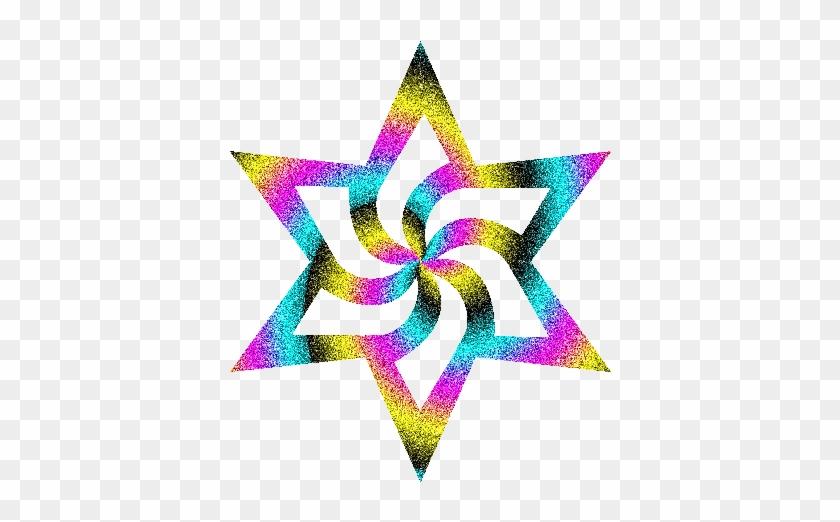 Graphics For Glitter Sparkle Star Clip Art Graphics - Rainbow Star Transparent Background #1332190
