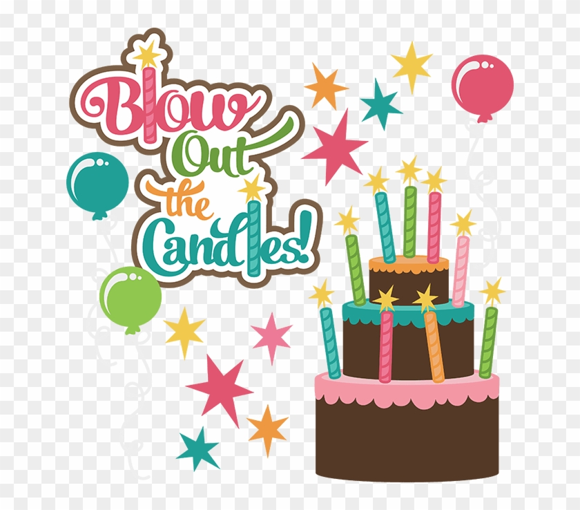 Girly Birthday Cake Clipart Blow Out The Candles Free