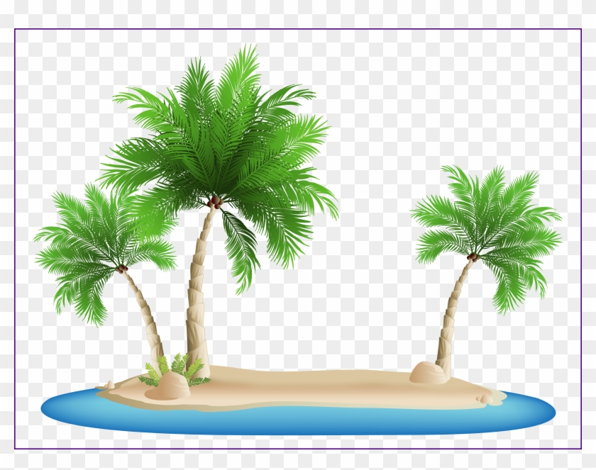 Shocking Palm Island Png Clipart Image Gallery Yopriceville - Palm Tree Beach Clipart #1333215