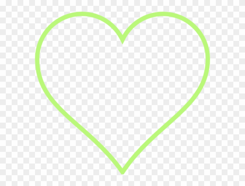 Green Love Heart Outline #1333756