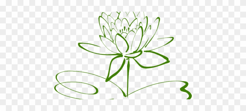 Small Lotus Flower Outline Tattoo Drawing Black And White Flower