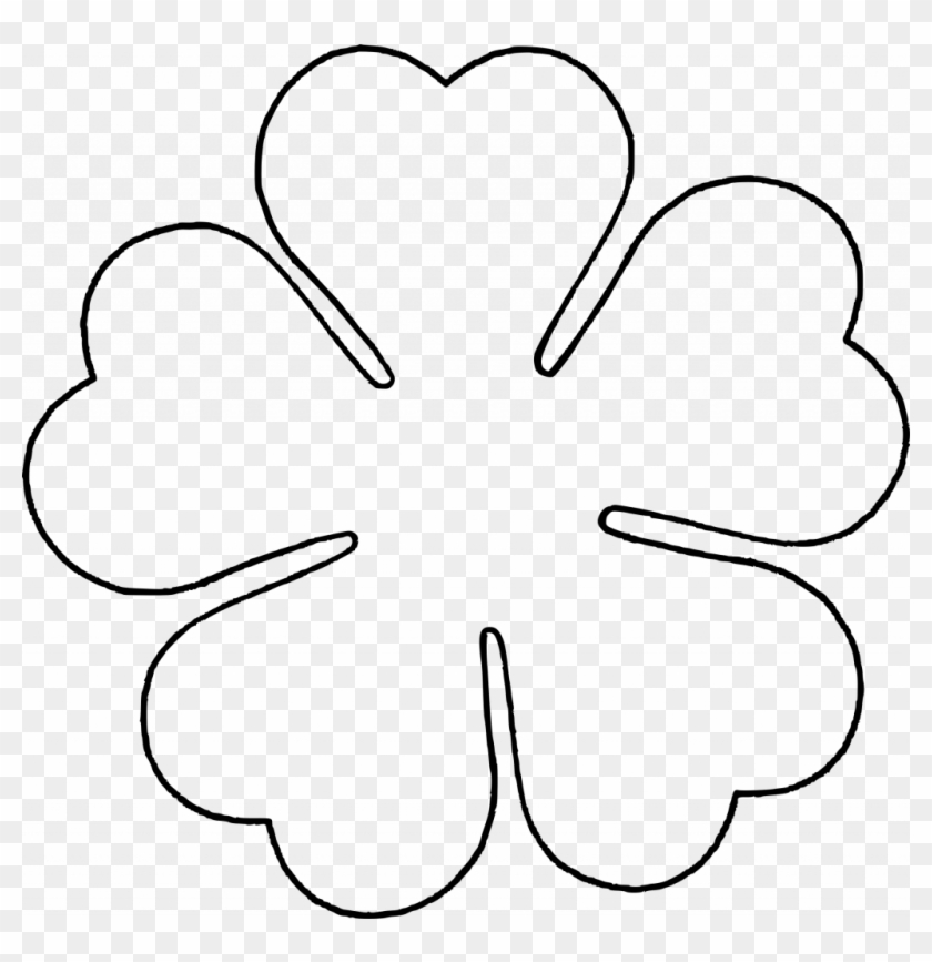 It's just a graphic of Printable Flower Templates with 6 petal