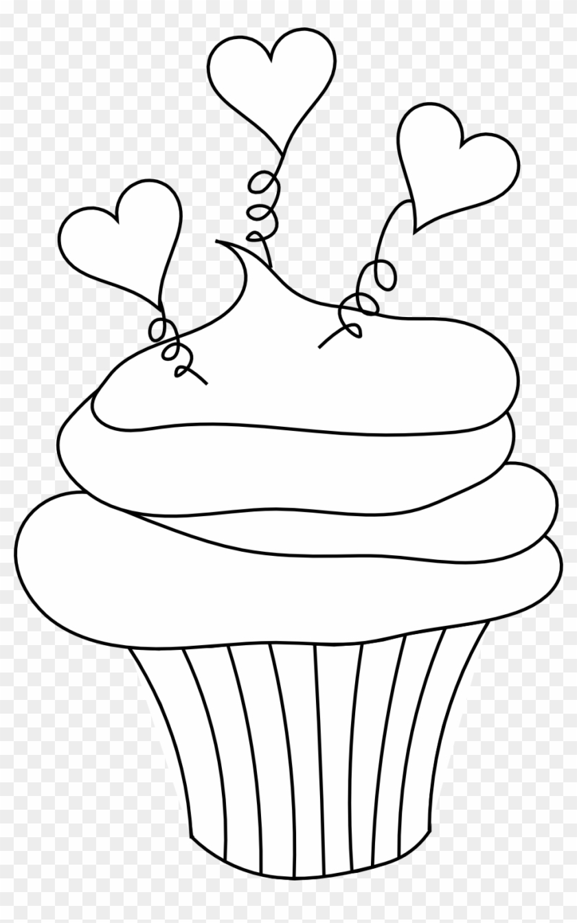 Tree Clipart Outline Cupcake Clipart Valentines Day Clipart Black