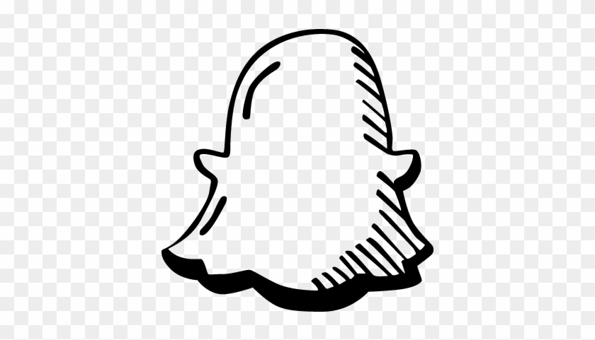 Ghost Draw Logo Vector - Snapchat Draw Logo Png - Free