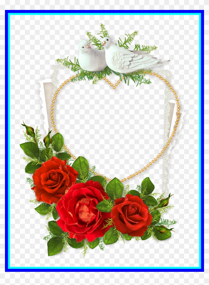 Best Heart Shaped Photo Frame With Doves And Red Crafts - Happy ...
