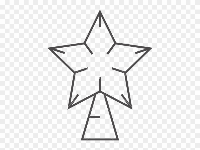 Christmas Tree Star Outline - Christmas Tree Star Outline #1334956