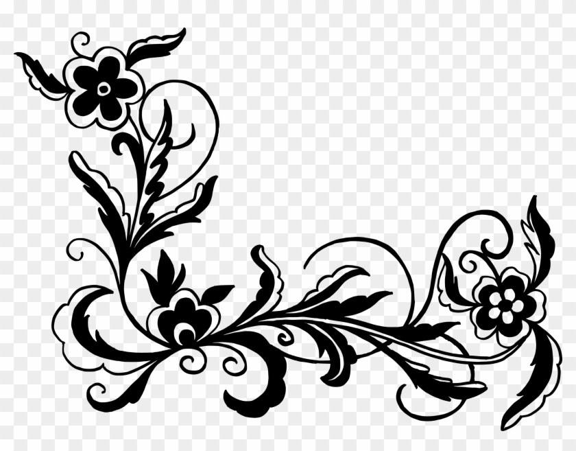 flowers vectors clipart ornament black floral vector png free transparent png clipart images download flowers vectors clipart ornament