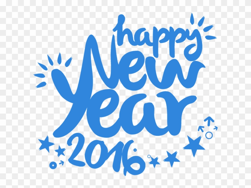 Creative 2016 Happy New Year Text Design - Happy New Year Text Png Blue #1335777