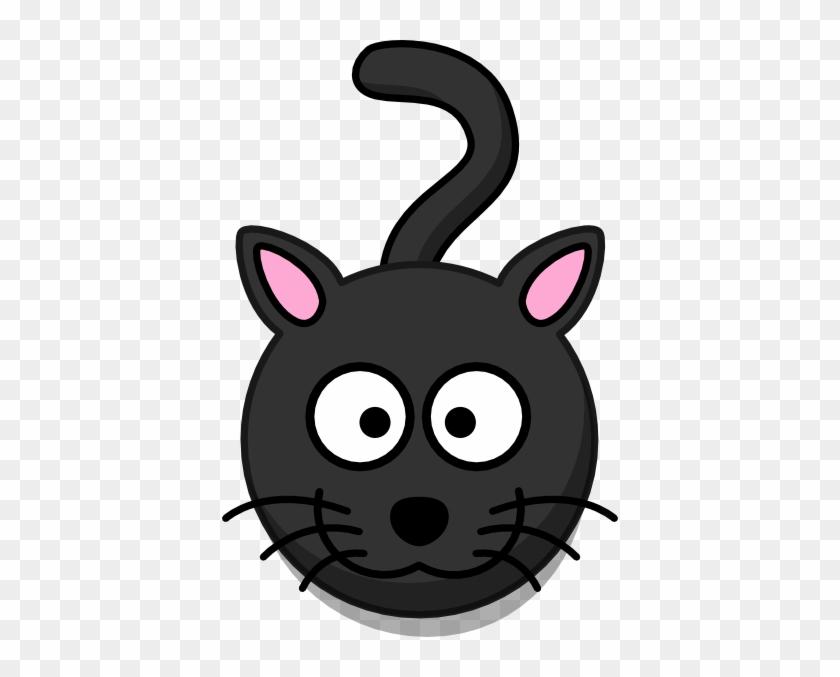 Black Cat Head And Shadow Clip Art At Clker Black Cat Face Clipart