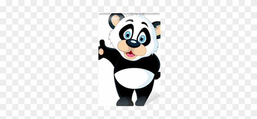 Panda Holding Blank Sign #1337077