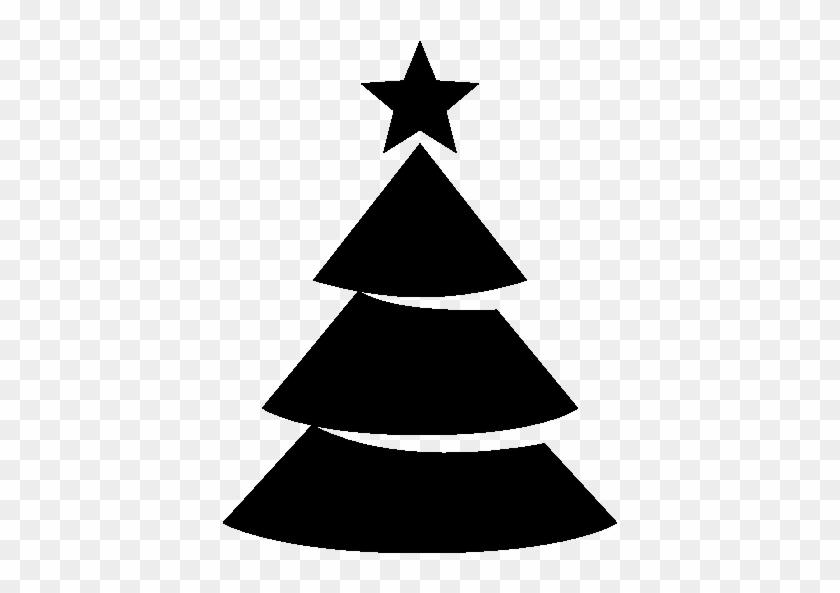 Pixel - Christmas Tree Icon Black And White #1337776