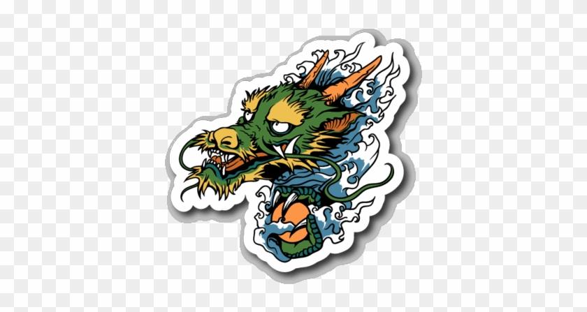 Japanese Dragon Sticker #1337857