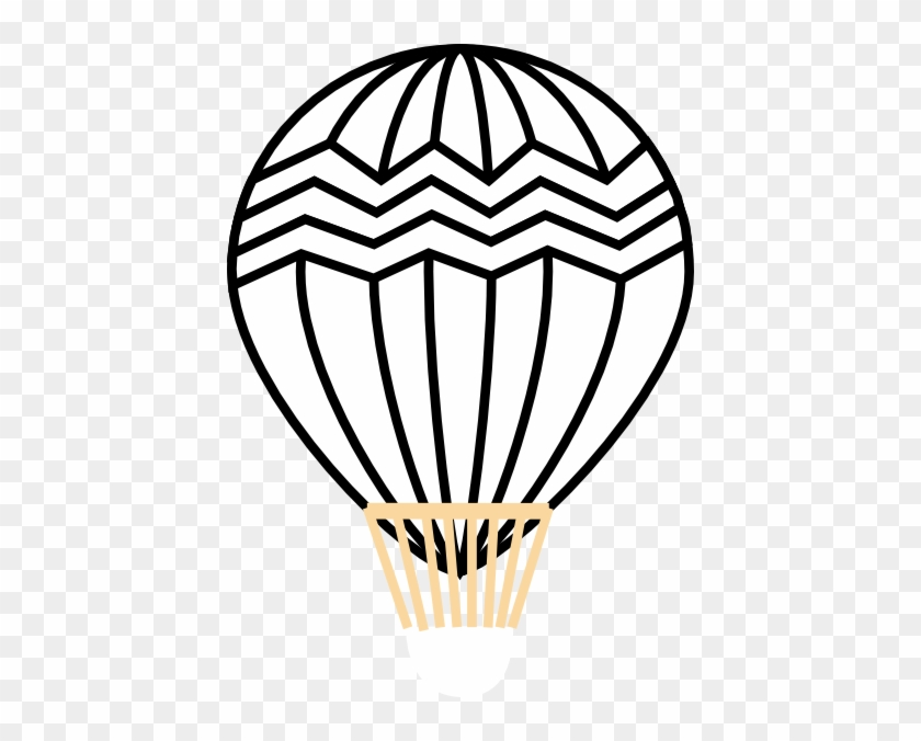 Hot Air Balloon Clipart Pictures Black And White #1337970