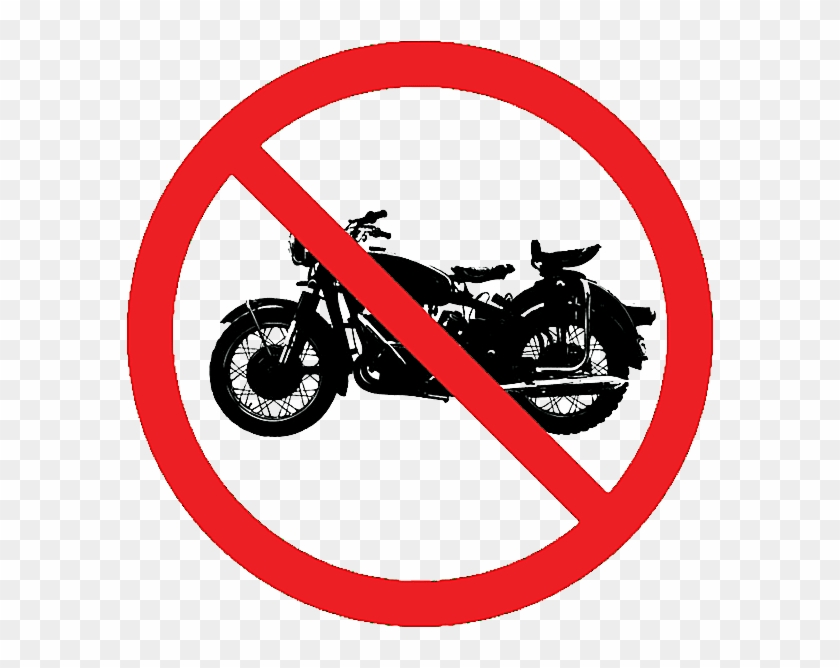 Clip Art Of A No Motorcycles Allowed Sign No Guns T Shirt