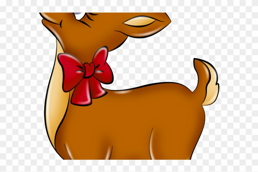 Renne Pere Noel Reindeer Clipart Modern   Renne Du Pere Noel   Free Transparent