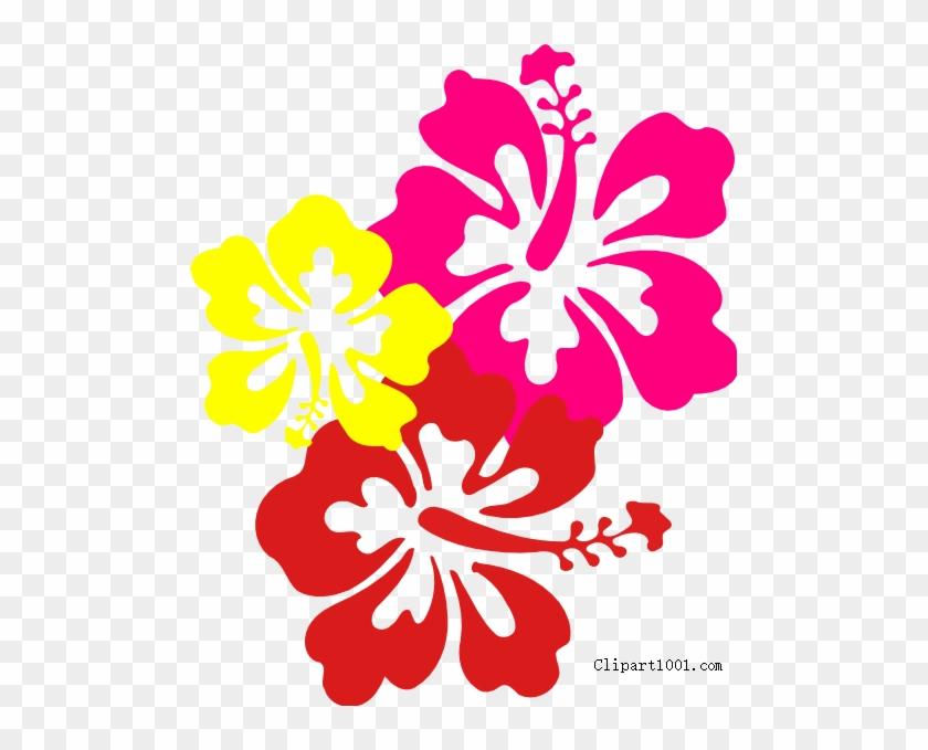 Free Hawaiian Flower Clip Art Three Flowers Printable Hawaiian