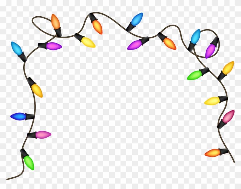 Christmas Clip Art Christmas Light Bulbs Lights Border - Christmas Lights Transparent Background #1340875