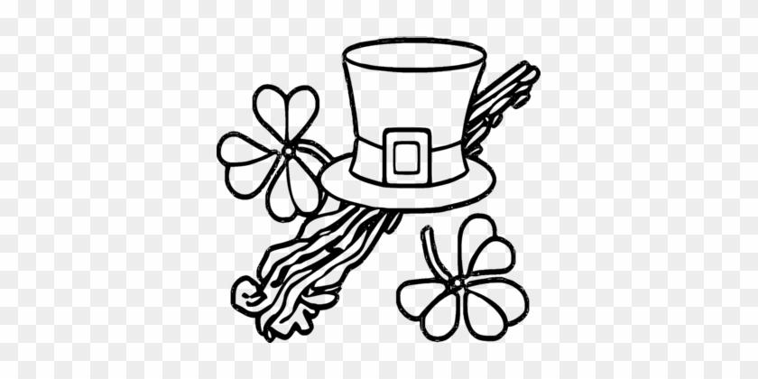 Saint Patrick's Day Irish People Shamrock Leprechaun - St Patrick Day Clip Art Black And White Free #1340936