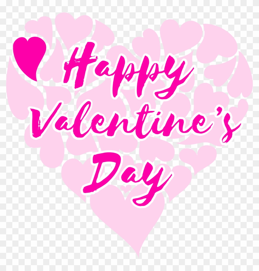 Clipart Happy Valentine 039 S Day Title With Hearts - Happy Valentines Day Title #1341335
