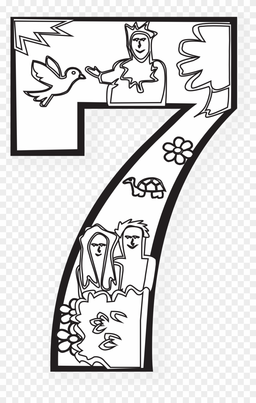 This Kind Of On Line Coloring Page For Children Will Days Of Creation Day 7 Free Transparent Png Clipart Images Download
